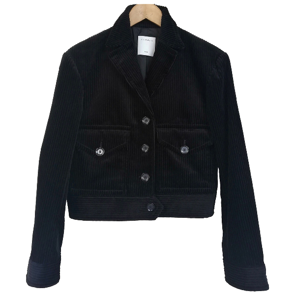 Sandro Black Cotton Jacket