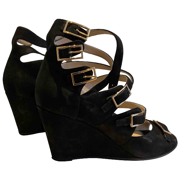 ChloÉ Black Leather Sandals