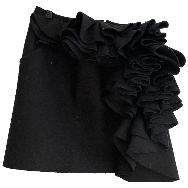 Jay Ahr Black Wool Skirt