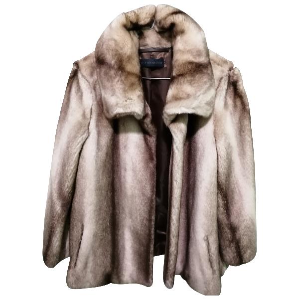 Trussardi Beige Faux Fur Coat