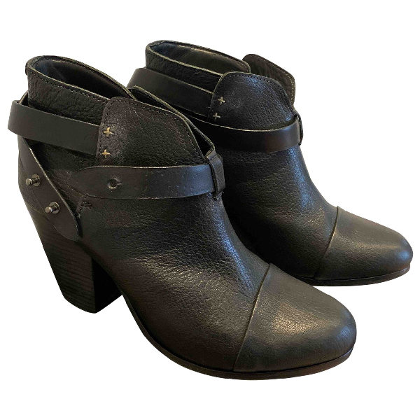 Rag & Bone Black Leather Boots