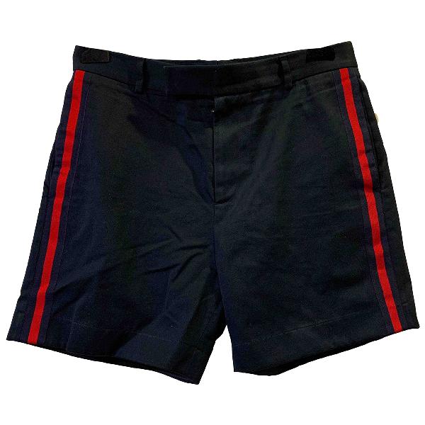 Gucci Navy Cotton Shorts