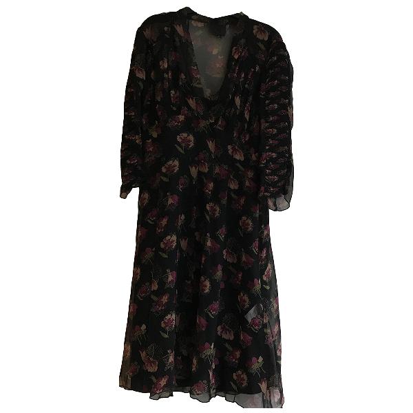 Anna Sui Black Silk Dress