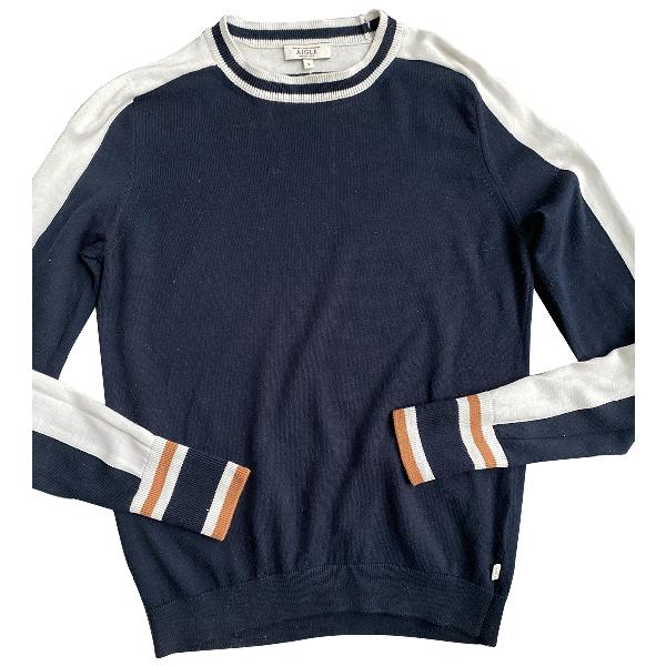 Aigle Blue Cotton Knitwear