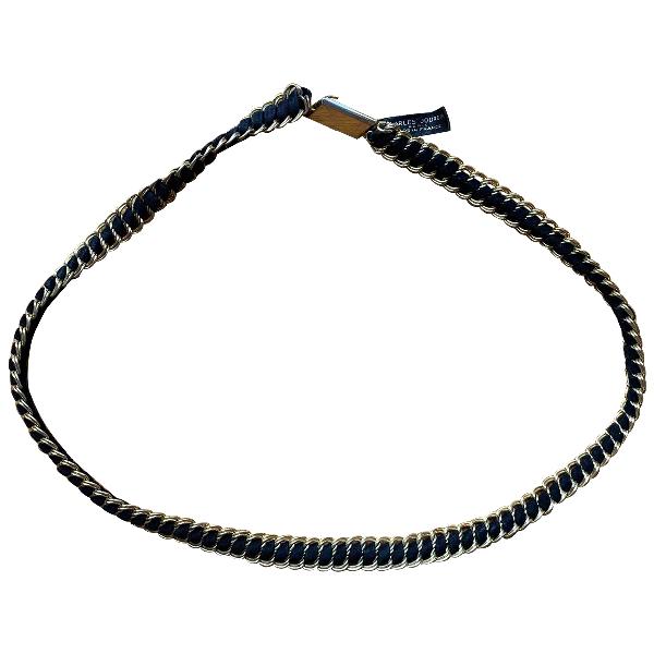 Charles Jourdan Black Leather Belt