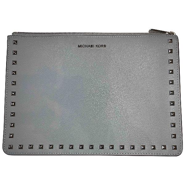 Michael Kors Blue Leather Clutch Bag