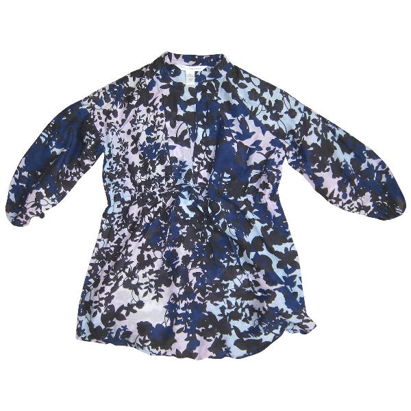 Diane Von Furstenberg Blue Silk  Top
