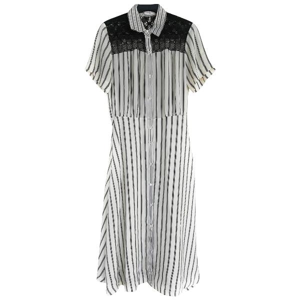 Sandro White Cotton Dress