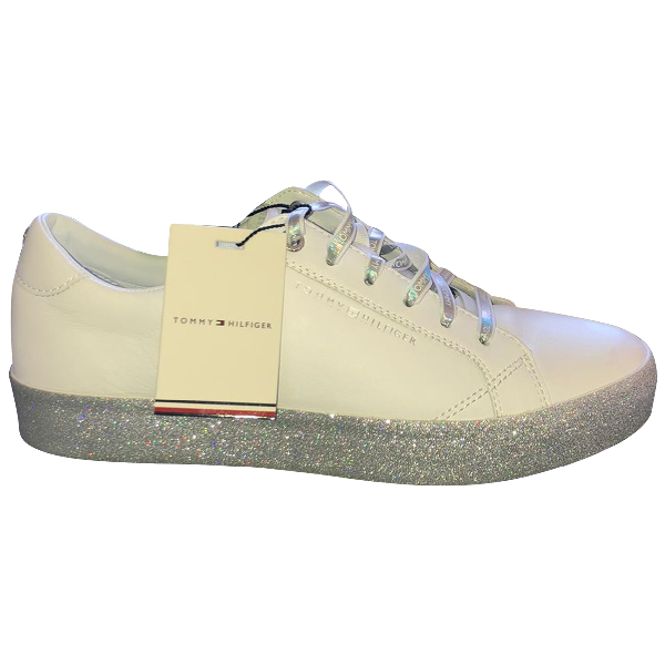 Tommy Hilfiger White Leather Trainers