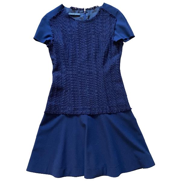 Alberta Ferretti Blue Cotton Dress
