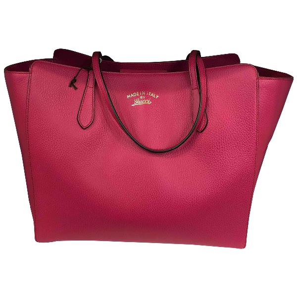 Gucci Swing Pink Leather Handbag