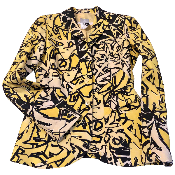 Versace Jeans Yellow Wool Jacket