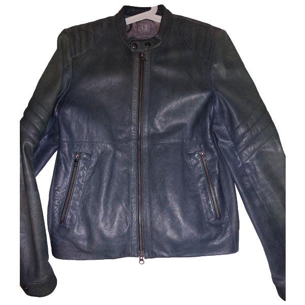 Emporio Armani Grey Leather Jacket