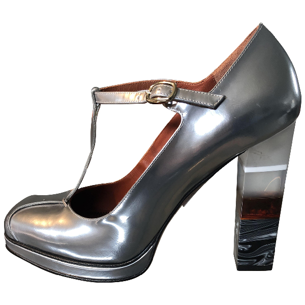 Missoni Silver Leather Heels