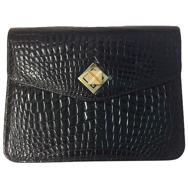 Gucci Brown Crocodile Clutch Bag
