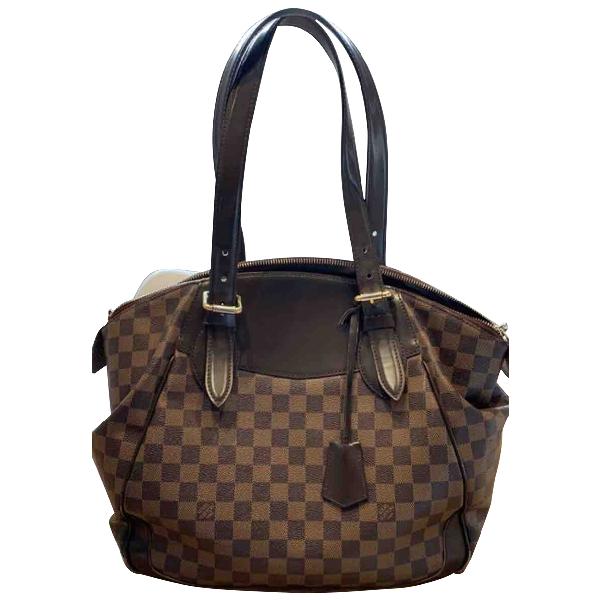 Louis Vuitton Verona Brown Cloth Handbag