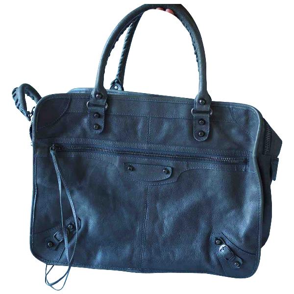 Balenciaga City Grey Leather Handbag