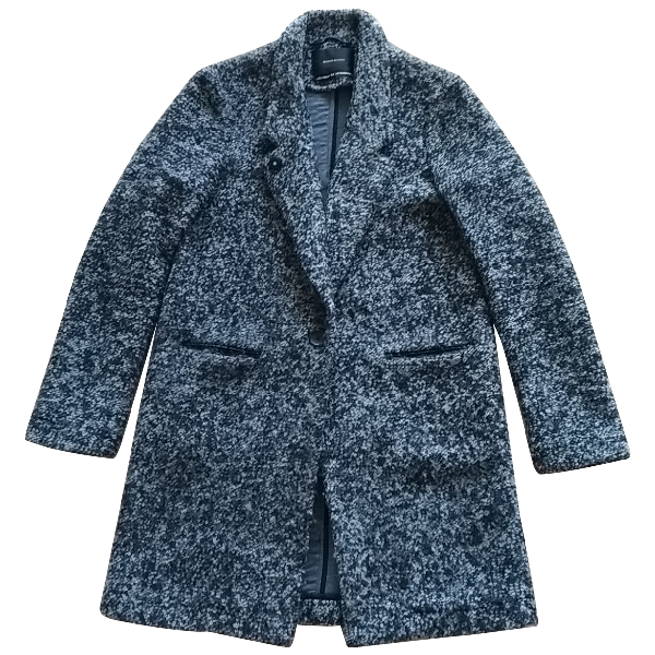 Maison Scotch Grey Wool Coat