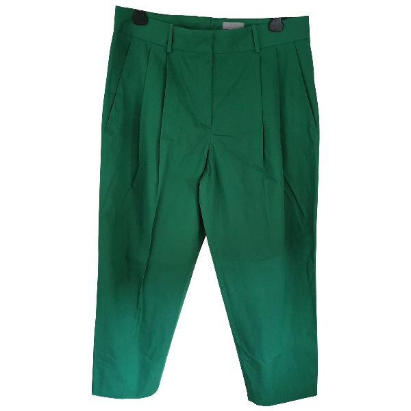 Cos Green Cotton Trousers