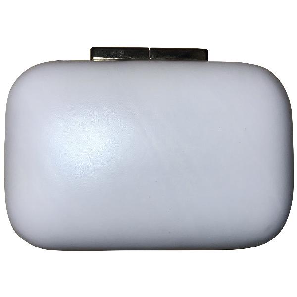 Elie Saab Ecru Leather Clutch Bag