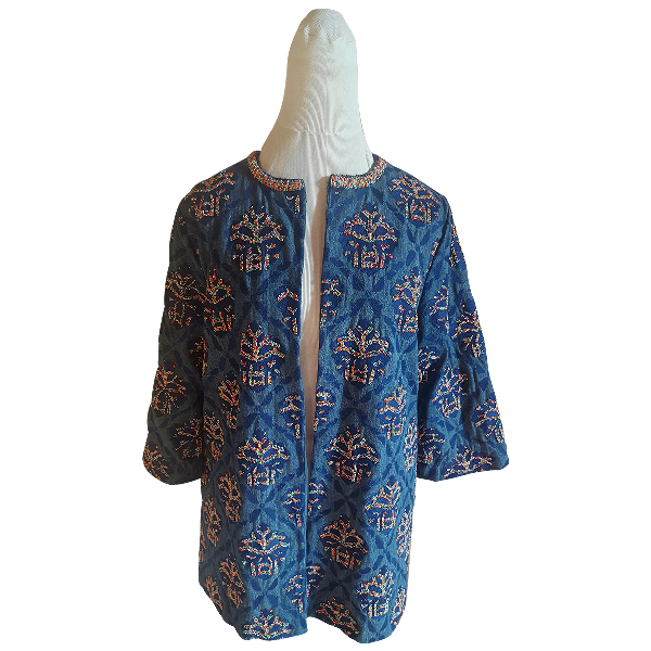 Manoush Blue Cotton Jacket