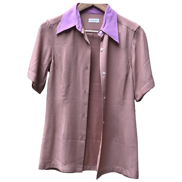 Dries Van Noten Pink Silk  Top