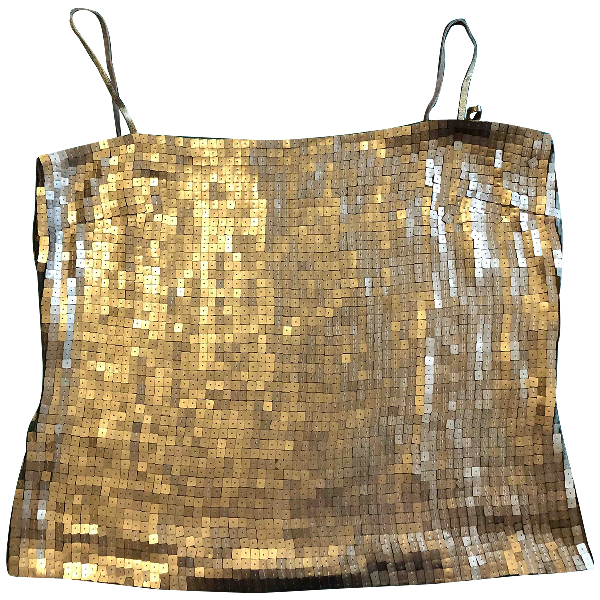 Genny Gold Silk  Top