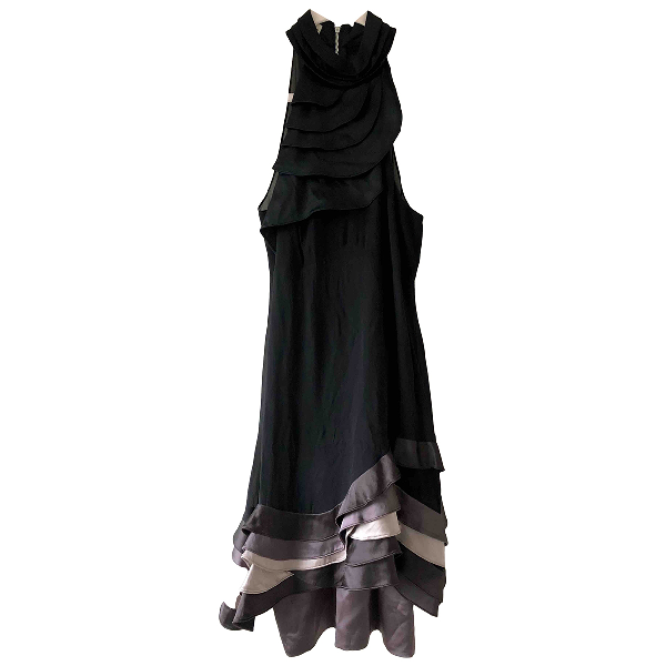 Karen Millen Black Silk Dress