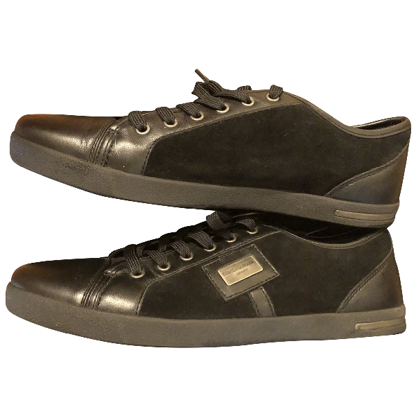 Dolce & Gabbana Black Leather Trainers