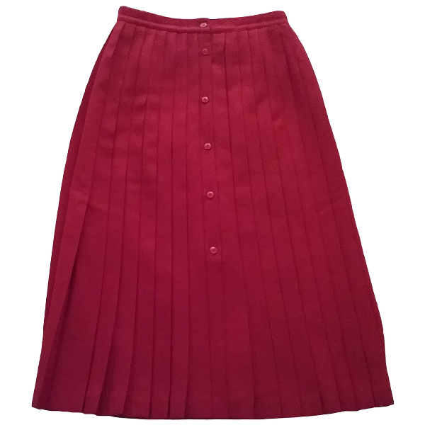 Cacharel Red Wool Skirt