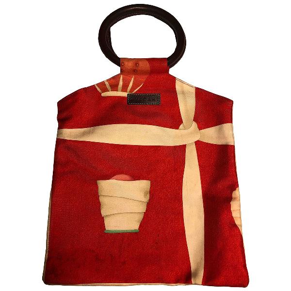 Bulgari Red Cotton Handbag