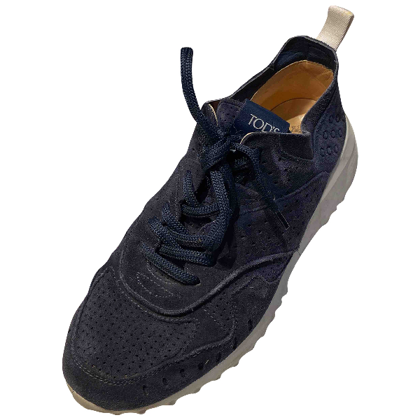 Tod's Blue Suede Trainers