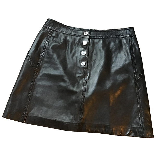 Zadig & Voltaire Black Leather Skirt