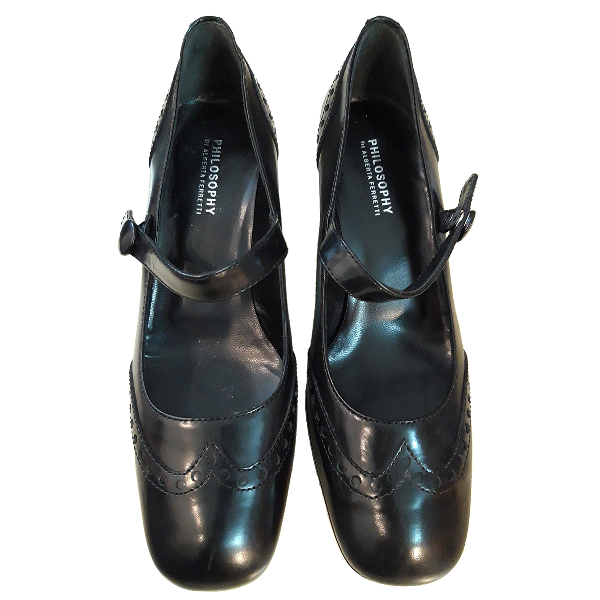 Philosophy Di Alberta Ferretti Black Leather Heels