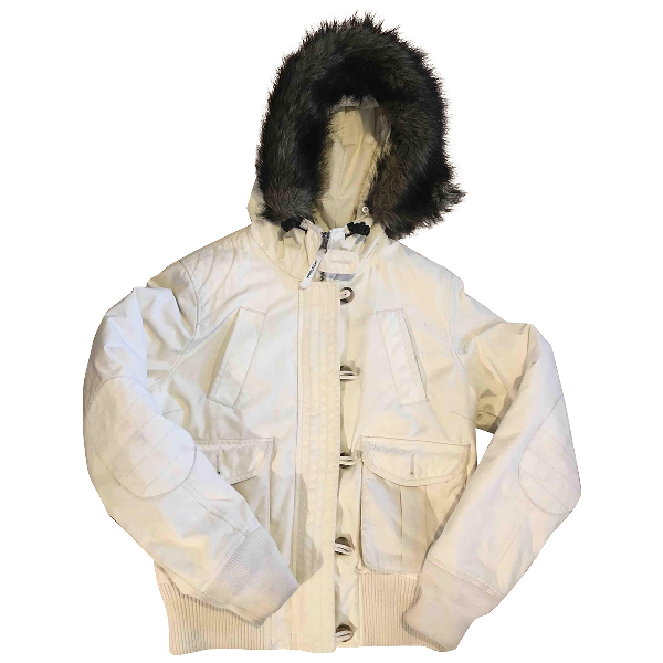 Woolrich White Leather Jacket