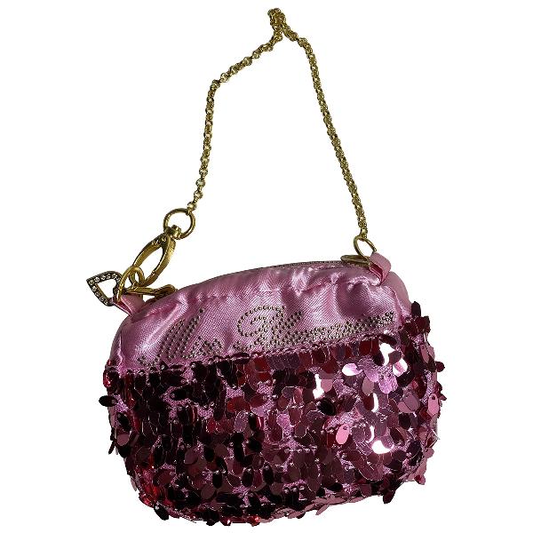 Blumarine Pink Glitter Clutch Bag
