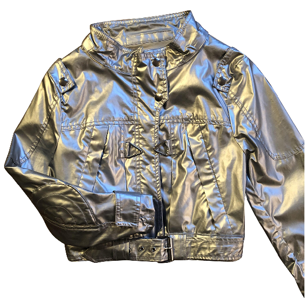 Barbara Bui Silver Leather Jacket