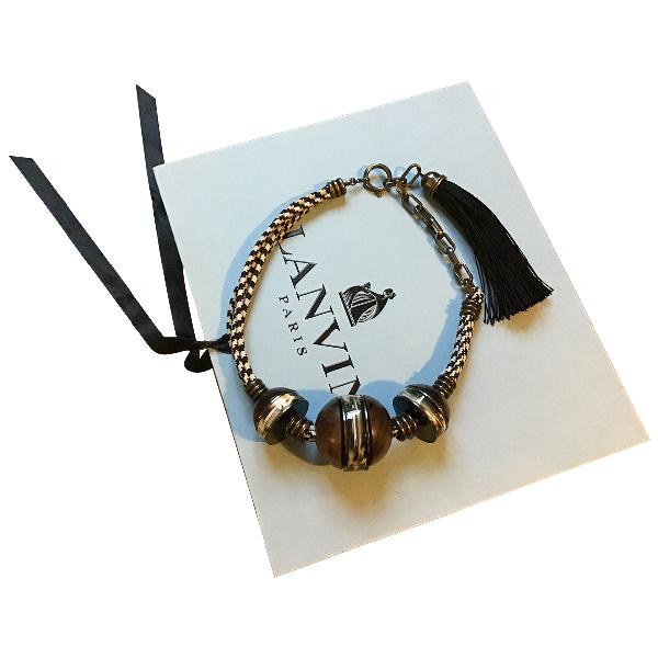 Lanvin Brown Metal Necklace