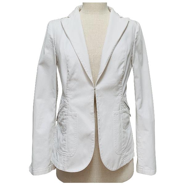 Costume National White Cotton Jacket