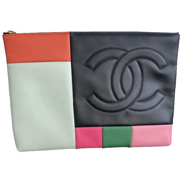Chanel Multicolour Leather Clutch Bag