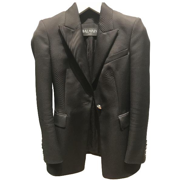 Balmain Black Cotton Jacket