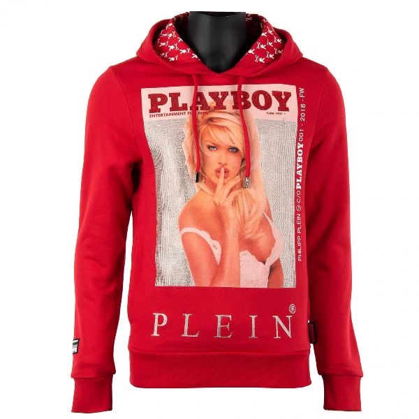 Philipp Plein Red Cotton Knitwear & Sweatshirts