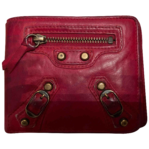 Balenciaga Red Leather Wallet
