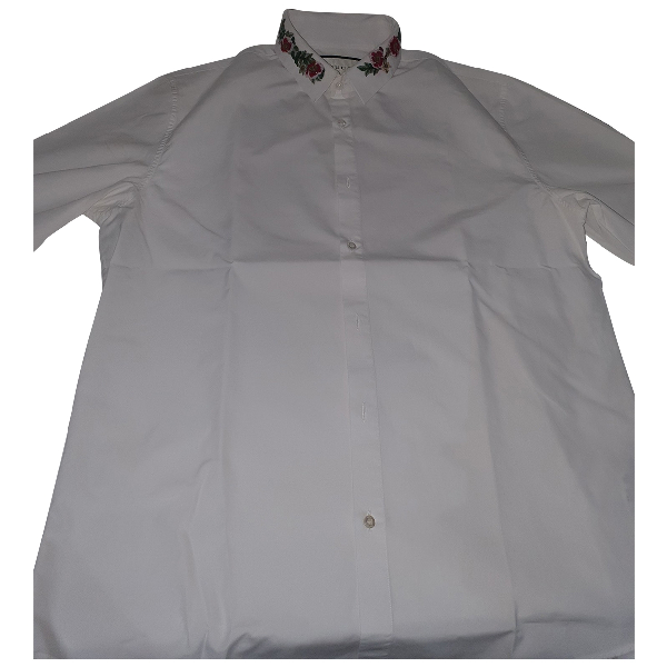 Gucci White Cotton Shirts