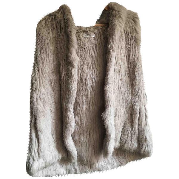 Yves Salomon Beige Rabbit Jacket