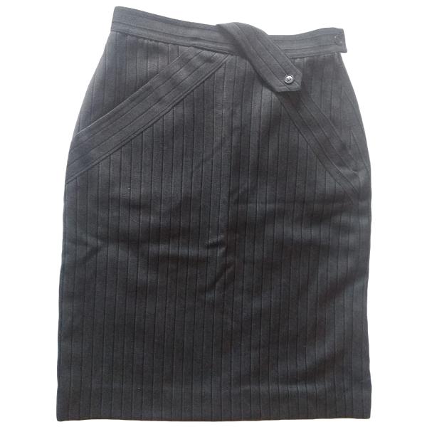 Max Mara Grey Wool Skirt