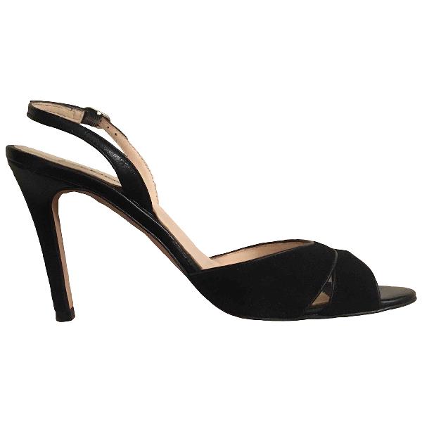 Lk Bennett Black Leather Sandals