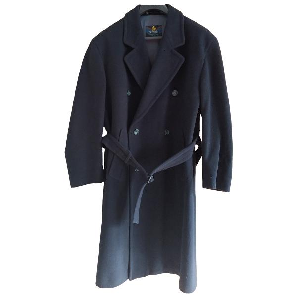 Bugatti Navy Wool Coat