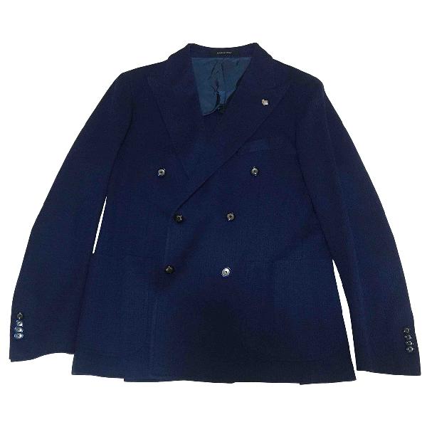 Tagliatore Blue Cotton Jacket