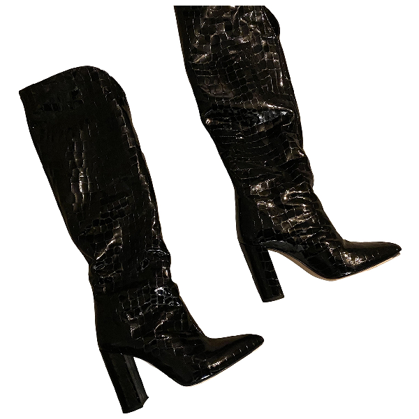 Paris Texas Black Patent Leather Boots